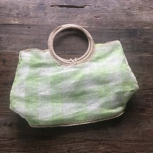 SALE 3/$15 Life is Good Green White Woven Tote